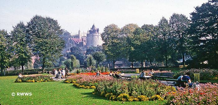The castle from the gardens