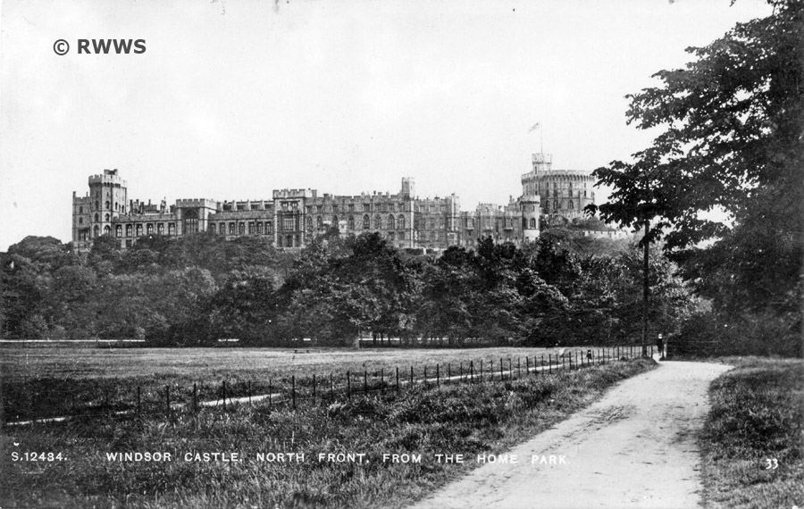 A View Of The Home Park And North Front Castle From Romney Lock Road Believed Early 1920s