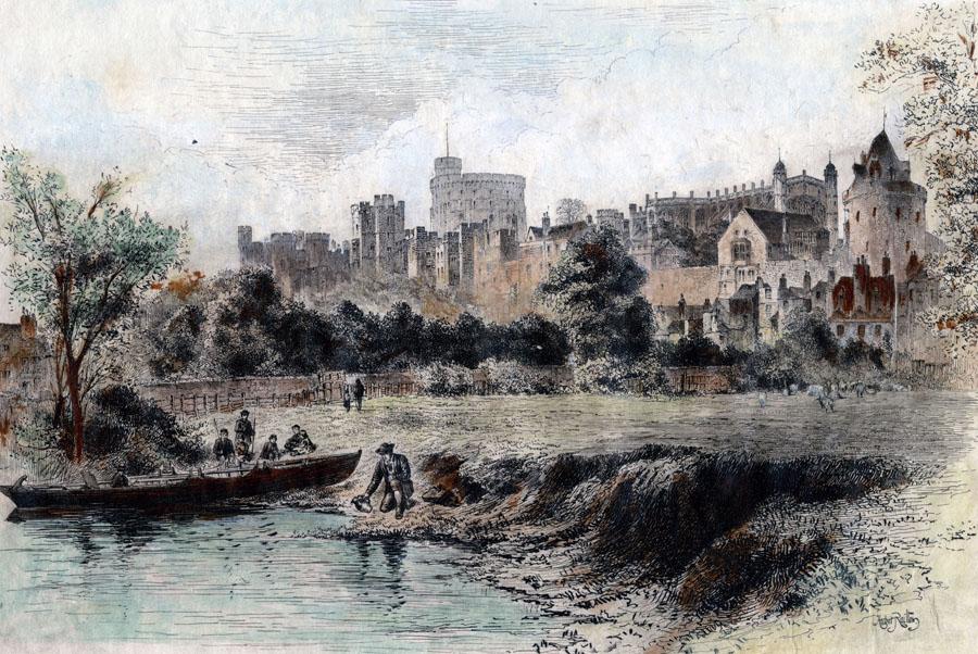 1886 Gathering Water