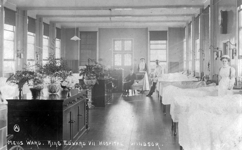 Here Is A View Of The Mens Ward In King Edward VII Hospital Photograph Probably Dates From Soon After Hospitals Opening 1909