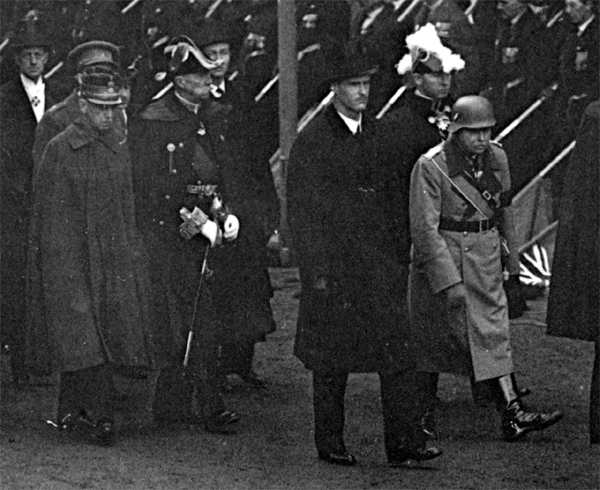Nazi German at King George V 1936 funeral