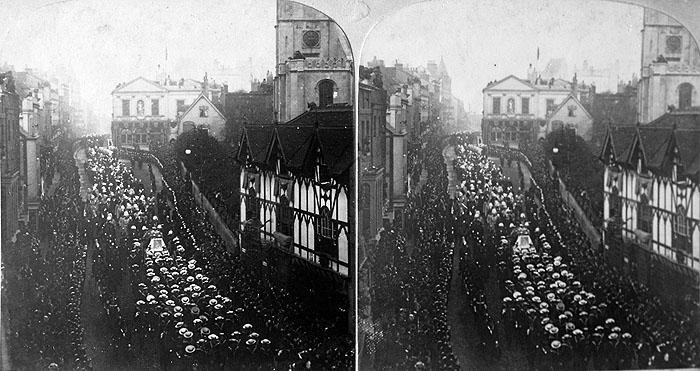 Stereoview Victoria Funeral High Street